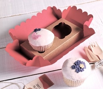 Little box for 2 cupcakes
