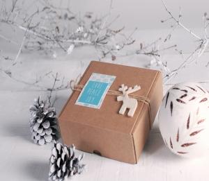 Caja de envíos para regalos de Navidad