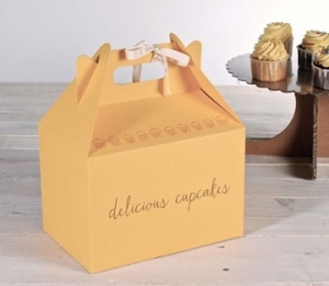 Gelbe Picknick-Schachtel