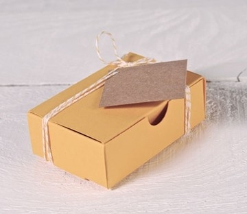 Coloured box for business cards