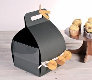 Caja con asa para tartas