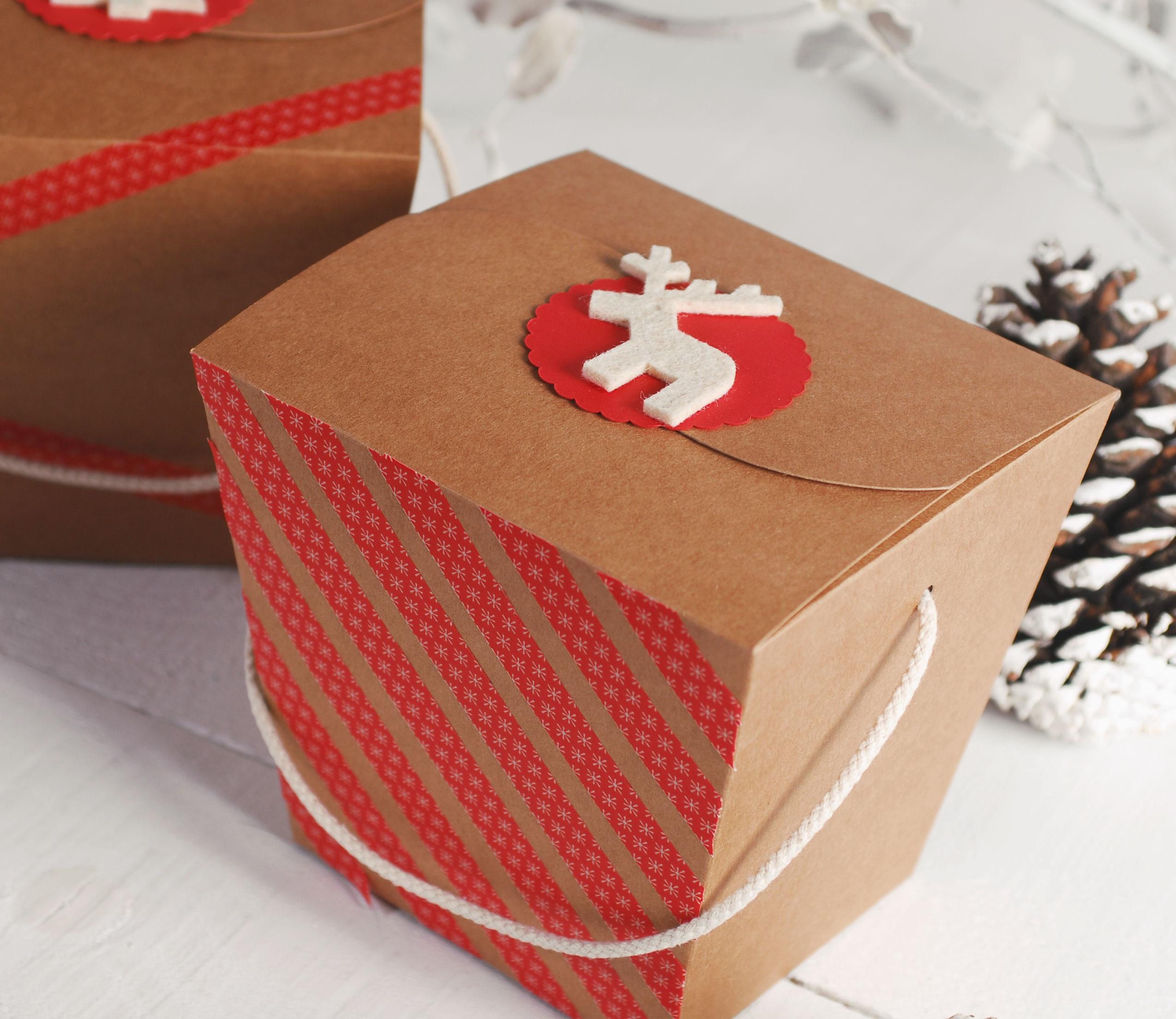 Scatole Per Regali Di Natale.Scatola Da Spaghetti Per Regali Di Natale Selfpackaging