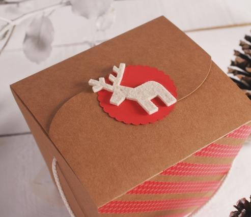 Caja fideos para regalos de Navidad