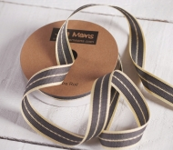 Gift ribbon striped denim