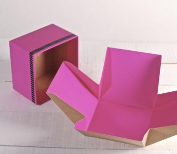Caja sorpresa rosa para regalo