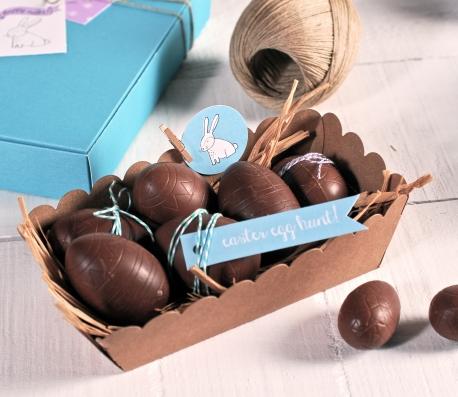 Barquilla de cartón para huevos de chocolate