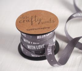 Geschenkband WITH LOVE