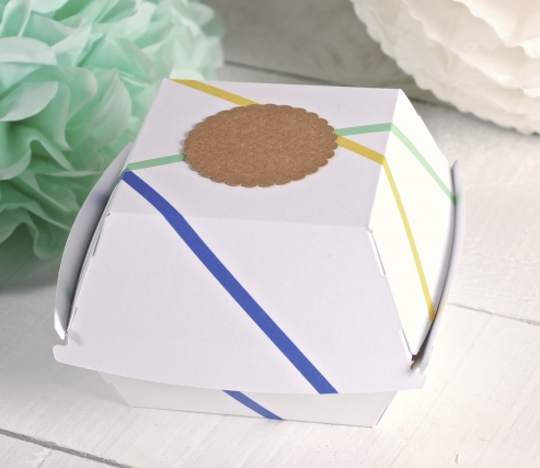 Caja de hamburguesas decorada