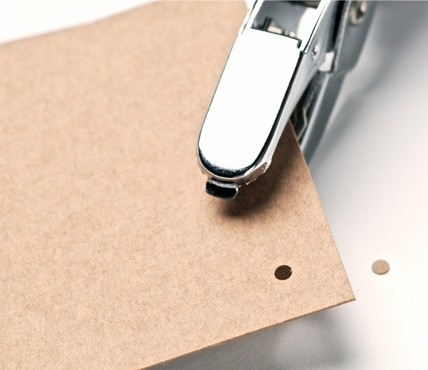 hand punch hole selfpackaging