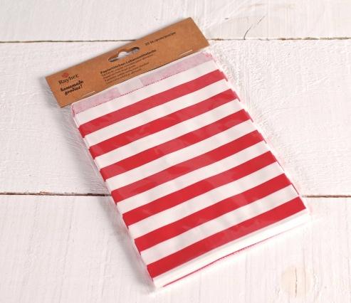 Bolsas de papel a rayas