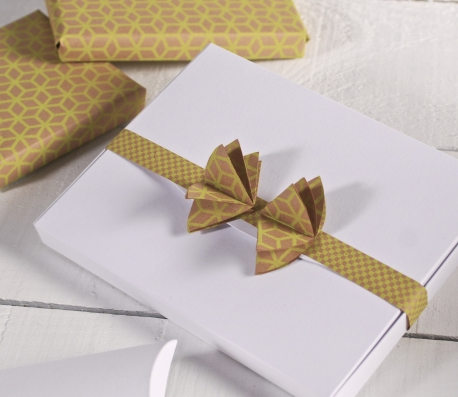 Photos box decorated with bow