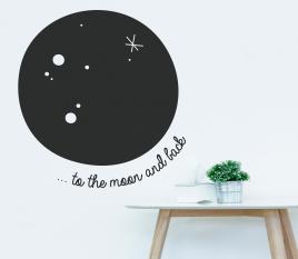 Mond-Wandaufkleber