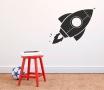 Wandaufkleber für Kinder mit Rakete