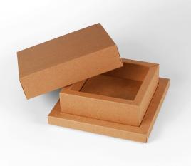 Caja cuadrada con cubeta y tapa