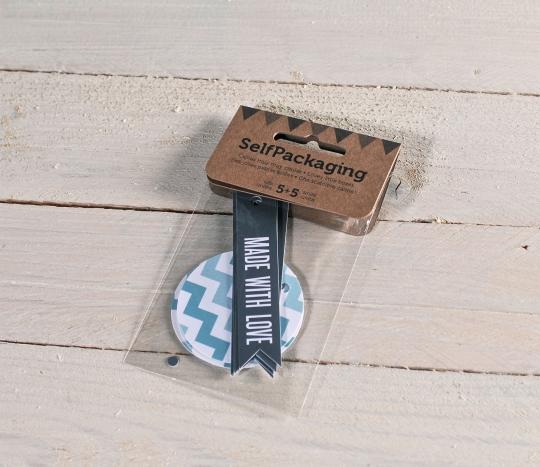 Kit de etiquetas banderola + redondas chevron