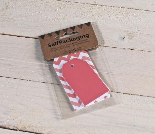 Kit di etichette classiche rosse + chevron rosso