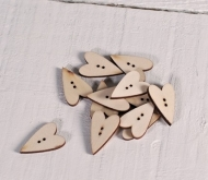 Wood Buttons Heart