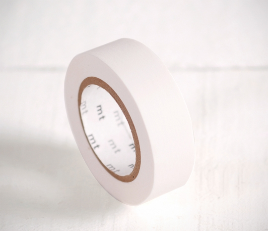 Washi tape blanco mate