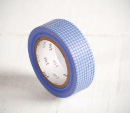 Washi tape di quadrati blu