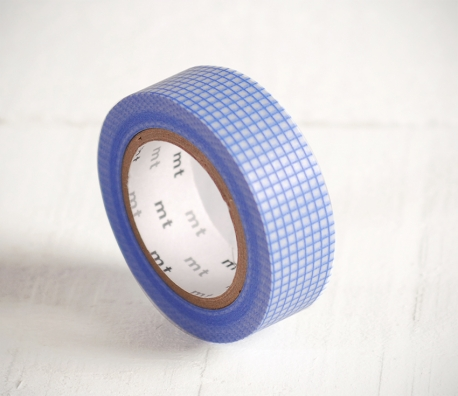 Washi tape cuadros azules