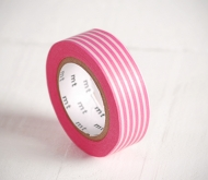 Washi tape a righe rosa