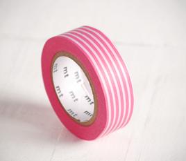 Washi tape rayas rosas
