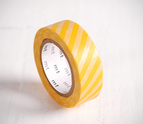Washi tape de rayas amarillas