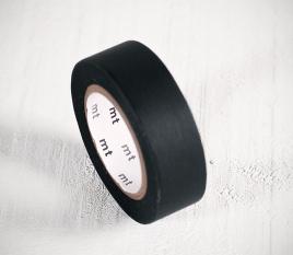 Washi Tape Negro Liso