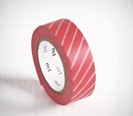 Washi tape rojo a rayas