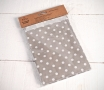 Grey polka-dot bags
