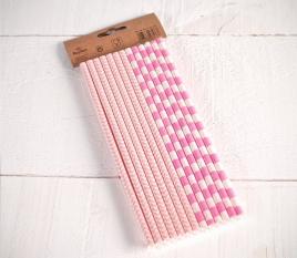 Pajitas de papel rosas