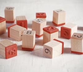 Set di timbri con i numeri