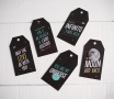 Kit of 10 gift tags 'Universe'