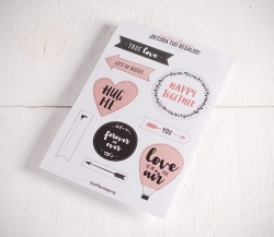 "Pegatinas para regalos ""Love is in the air"""