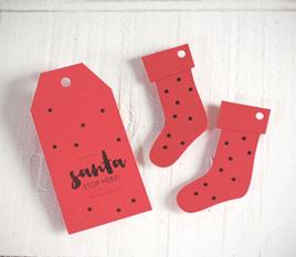 Kit de etiquetas navideñas en rojo