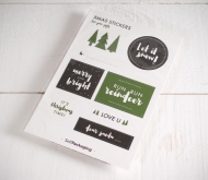 Stickers for Christmas presents in green