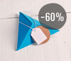 Kit de 4 cajas triangulares de cartón de colores con accesorios