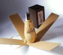 Caja botella con tapa y cordón