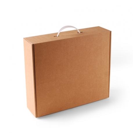 Papp-Koffer mit Tragegriff