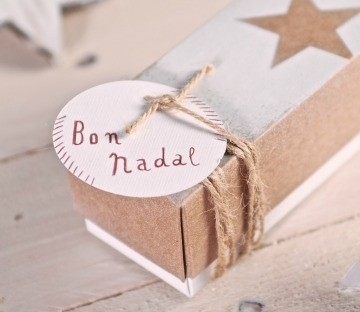 Spray painted gift boxes