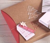 Scatola regalo quadrata con fascia