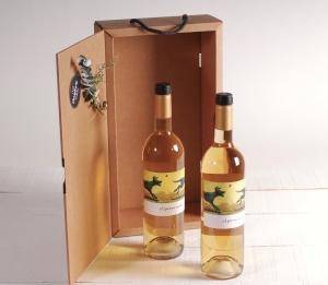 Scatola natalizia per regalare bottiglie