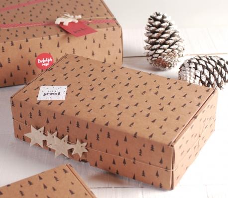 Caja automontable para Navidad