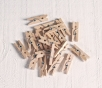 Mini wooden clothes pegs