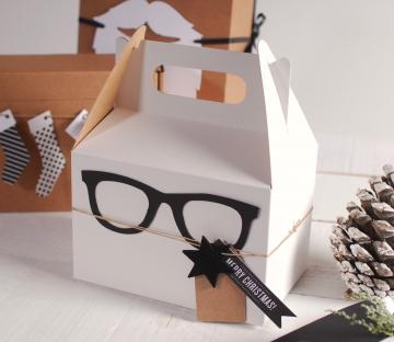 Caja decorada con gafas