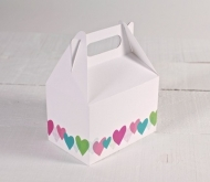 Box - Hearts pattern