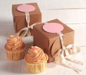 Scatolina con nastro per cupcakes