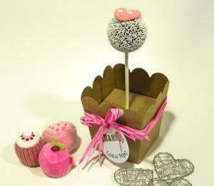 Schachteln für einen Cake Pop