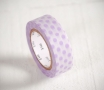 Washi tape with purple dots