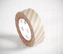 Washi tape a strisce beige